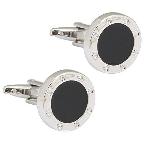 HPOZA Gemelos Circulares Regalos para Hombres Hombres Camisa De Gemelos De Moda
