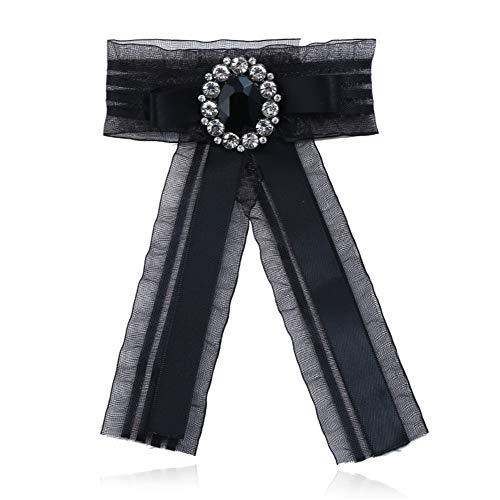 GuangLiu Broches para Ropa Mujer Broches Ropa Broche Vintage Pajarita Negro Broche, Broches Vintage para Mujer De Broche de joyería Black