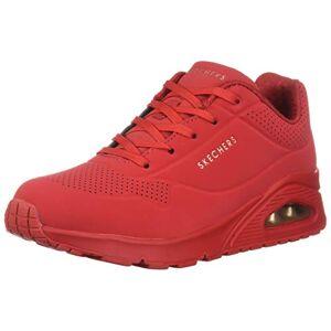 Skechers Uno Stand On Air, Zapatillas para Mujer, Rojo (Red Durabuck Red), 38.5 EU