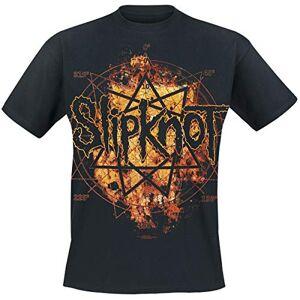 Slipknot Hombre Camiseta Negro L, 100% algodón, Regular