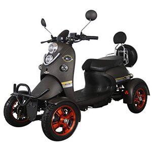 Green Power Nuevo scooter eléctrico estilo retro de 4 ruedas extra estabilidad para minusválidos y personas mayores hasta 25 km/h motor de 800 watt 60V 100AH Negro Green Power