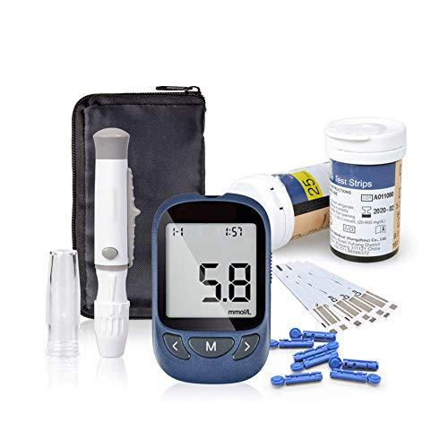 quiwill glucosa en sangre kit de control de la diabetes kit de prueba de azúcar en sangre kit codefree pack 50 tiras para diabéticos