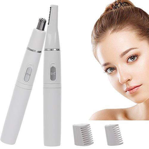 mengzf cortapelos nariz y orejas,mengzf 2 en 1 sin dolor eléctrica depiladora cejas,depiladora de vello facial,eyebrow trimmer,ipx7 a prueba de agua afeitadora maquinilla de afeitar para hombres mujeres
