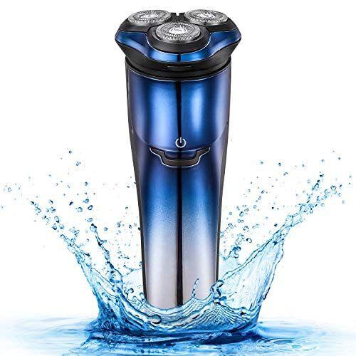 lavercy afeitadora eléctrica hombre afeitadora rotativa afeitadora barba resistente recargable maquinilla de afeitar electrica con recortador de precisión uso mojado y seco