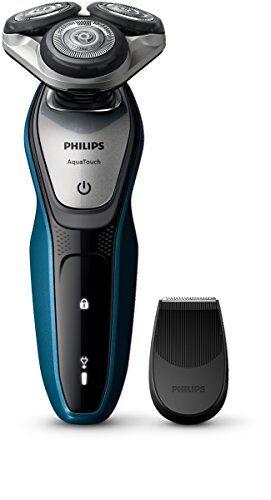 philips aquatouch s5420/06 - afeitadora eléctrica, uso en húmedo y seco, color negro (importado de reino unido)