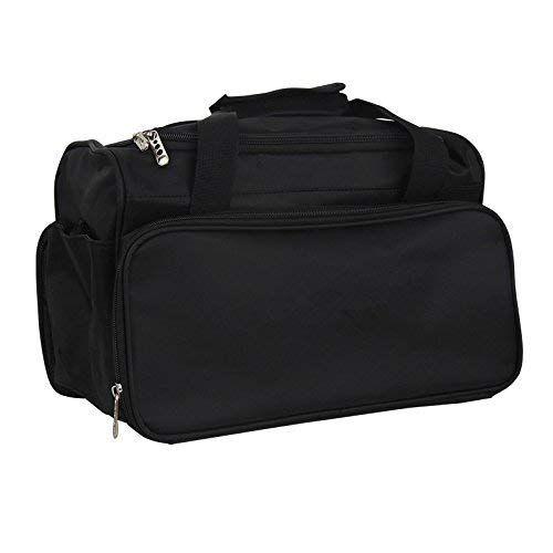 moontay smith chu - bolsa de herramientas profesional para peluquería, bolso de mano de salón, bolsa de viaje, bolsa de equipaje, color negro