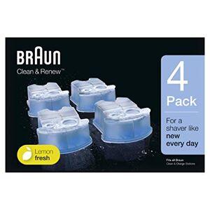 Braun - Pack de 4 recambios de líquido limpiador para el sistema Clean & Renew - CCR4