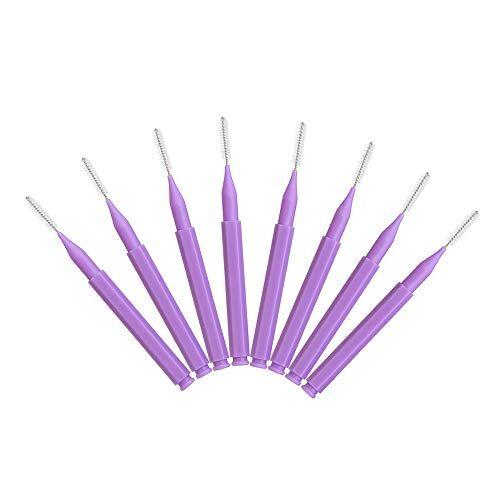 baugger limpieza dental   8 piezas de limpieza cepillo de dientes push-pull cepillo inter cuidado bucal limpieza de dientes cepillo de dientes ortodóntico