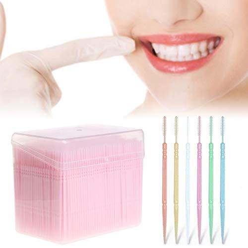 fgsvf cepillo de dientes ultrasónico simple principal doble cargado tiles de limpieza portátil cuidado dental desechable palillo de dientes (color al azar de dlivery) (color : random color dlivery)