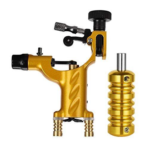 atomus máquina rotativa de tatuaje con empuñadura 6500r / m para tatuajes gold