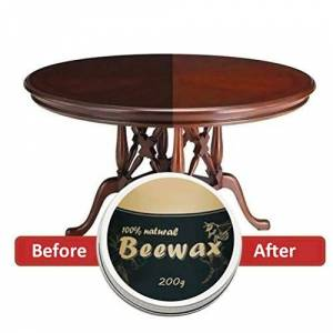 LAOZI 200g Wood Seasoning Beewax Furniture Care Beeswax Wood Furniture Polish Wax