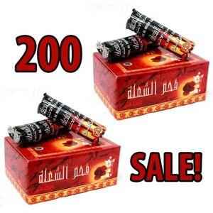 Hookah4sale-Accessories Venta de carbón! 200 tabletas de Carbones Hookah nargila para tazón Shisha fumar
