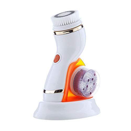idebris limpiadora facial brush - pincel recargable - ipx65 impermeable eléctrica rotativa cara depurador for la limpieza profunda, exfoliación, la espinilla quitar, 2 velocidades ajustables
