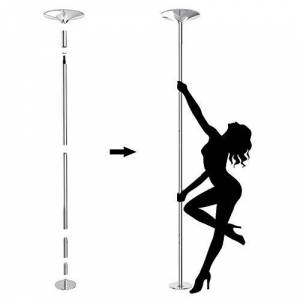 Leogreen 1 Barra Pole Dance Juventud Unisex Plata, 39 x 39 x 274,5 cm