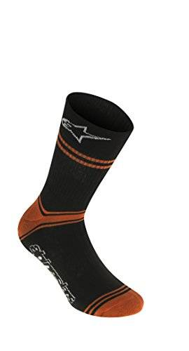 alpinestars hombres de calcetines de verano, hombre, color black bright orange, tamaño s/m