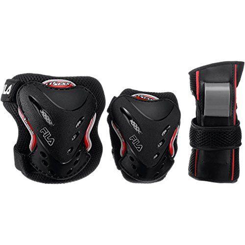 fila gear protecciones, juventud unisex, negro/rojo, xs