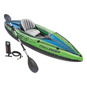Intex 68305NP Kayak hinchable Challenger K1 con un remo 274 x 76 x 33 cm