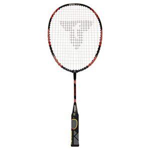 Talbot Torro Raqueta de Aprendizaje de Badminton Eli Mini, Longitud Acortada 53 cm, Mango de Aprendizaje, Cabeza en Forma de Gota, Rojo/Negro, 419612