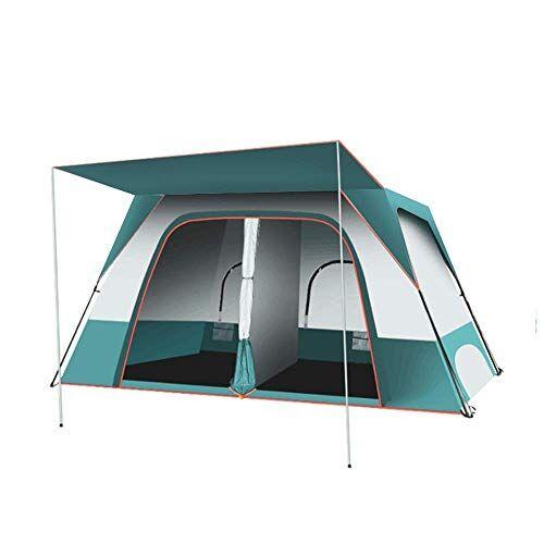zhipeng tienda de campaña para acampada, 2 habitaciones, 1 pasillo, 4 a 8 personas al aire libre, resistente a la lluvia, 3 tipos de paquetes, tienda de campaña (color: a) hsvbkwm, a
