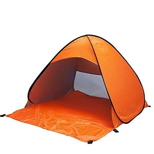 la view tienda de campaña para playa con protección uv, incluye bolsa de viaje y clavos para tienda de campaña + red antimosquitos, naranja