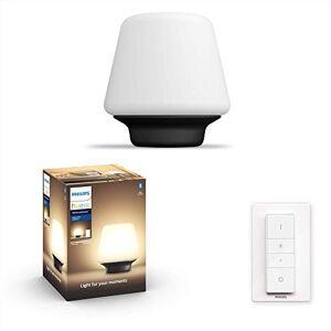 Philips Hue Wellness Lámpara de Mesa Inteligente LED con Bluetooth, Luz Blanca de Cálida a Fría, Compatible con Alexa y Google Home