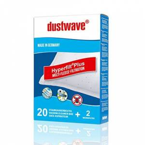 dustwave 20 bolsas de aspiradora adecuadas para AEG - VX7-1-SW, VX7-1-TOY, VX7-1-WR, VX7-2-CR, VX7-2-CRAK, VX7-2-DB, VX7-2-EB, VX7-2-ECO, VX7-2-IW, VX7-2-ko, VX7-2-EB, VX7-2-koX, AEG - VX7. Serie.