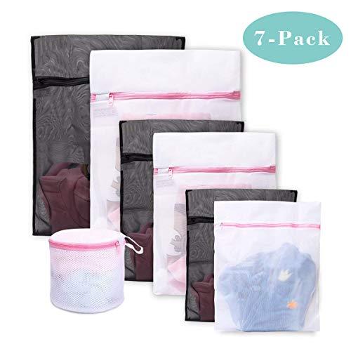 1617 eu bolsas para la colada ,set de 7 malla bolsas de lavandería /bolsas de lavadora para lavadora/secadora/colada/lavar la ropa interior, sostén, prendas delicadas, ropa de bebé, organizador, viajes