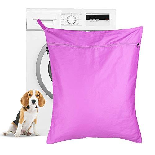 maison & white bolsa de lavandería para mascotas   bolsa de lavado petwear   removedor de pelo para perros y gatos para lavadoras   gran tamaño adecuado para camas, juguetes, collares   m&w