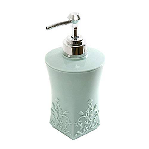 achicoo 400ml dispensador de champú desinfectante para manos, dividido en gel de ducha estilo europeo dividido botella vacía cuadrado azul claro