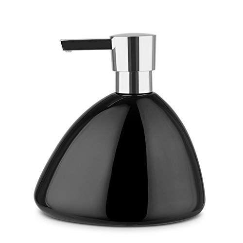 zunruishop botella de jabón/caja de jabón líquido desinfectante de manos creativo en botella brillante de cerámica manual de champú dispensador de jabón baño ducha gel loción botella dispensador jabón baño