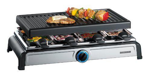 severin 2617 - raclette de 1100 w 8 personas, termostato con led