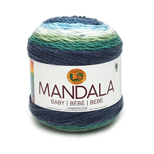 lion brand yarn company lion brand 526205mandala baby ovillo de lana, acrílico, echo cuevas, 13,97x 13,97x 11,43cm