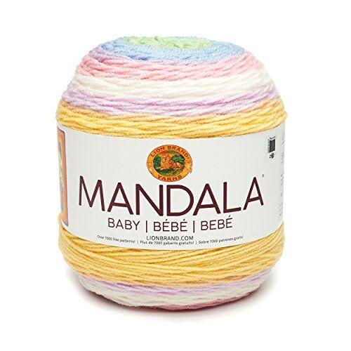 lion brand yarn company lion brand 526213mandala baby ovillo de lana, acrílico, jake, 13,97x 13,97x 11,43cm