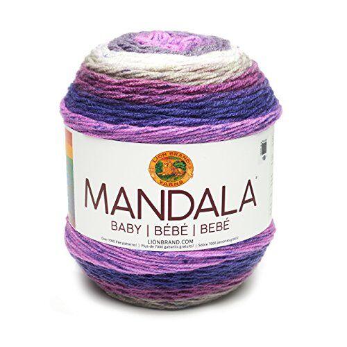 lion brand yarn company lion brand 526210mandala baby ovillo de lana, acrílico, magic moon, 13,97x 13,97x 11,43cm