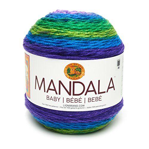 lion brand yarn company lion brand 526202mandala baby ovillo de lana, acrílico, mermaid cove, 13,97x 13,97x 11,43cm