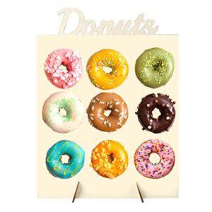 LAOZI Donut de Soporte de Pared, Donut de Madera Muestra Stand Donut Display Frame Donut Soporte Decorativo Donut Wall Wedding Favors