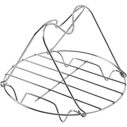 tongxu rejilla de vapor vaporera portátil de acero inoxidable vitrina de cremallera con asas suministros de cocina para carne verduras cocinar calefacción hogar diámetro 19,5cm