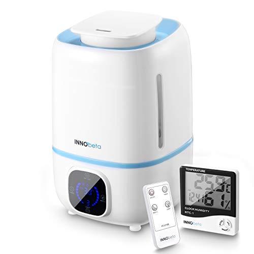 innobeta fountain humidificador ultrasónica 3,0litro bebé de vapor frío con control remoto y higrómetro, minutero, boquilla 360°, apagado automático, para el hogar,la habitación para bebés(hasta 40㎡)