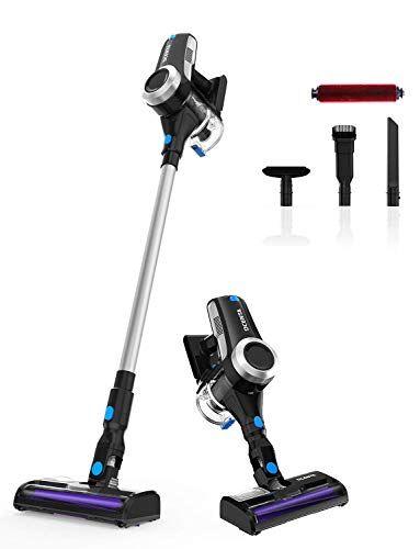 dcenta aspirador escoba vertical y de mano, motor digital brushless, aspirador 2 en 1, motor sin escobillas de 350 w, 2 niveles de succión, 2019 nueva versión