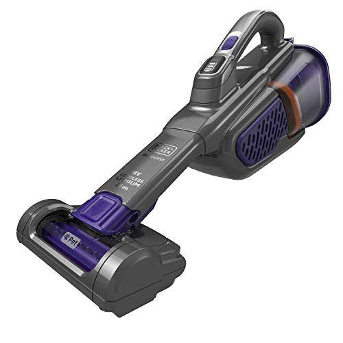 black & decker bhhv520bfp-qw - aspirador de mano sin cable 18v (2.5ah) smarttech especial mascotas