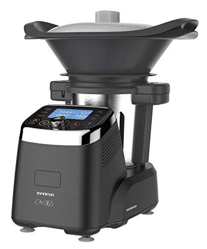 infiniton electronic robot de cocina multifuncion infiniton chef 365 (temperatura hasta 120ºc, capacidad 3 litros, 12 velocidades, vaporera, incluye recetario, 1500w)