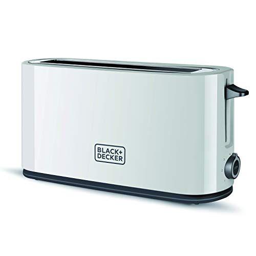 black & decker bxto1001e tostadora, 1000 w, plástico, blanco