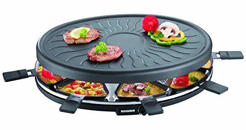 severin parrilla de fiesta severin raclette, aprox.1100 w, incl. 8 sartenes, rg 2681