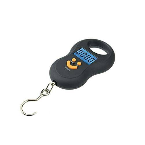 aqwesp báscula de cocina 50kg/5g portable electronic scales hanging digital scale fishing hook pocket weighing balance with led light