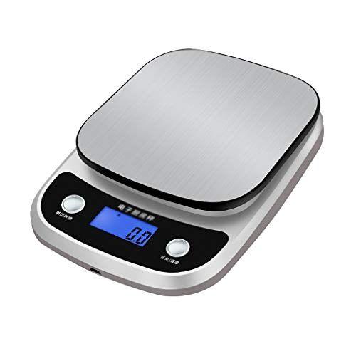 básculas escala de la cocina hornear escala electrónica de la escala alimentaria en el hogar pequeño alta precisión de 0,01 precisión impermeable cocina (color : silver, size : 15.9 * 21.2 * 3.4cm)
