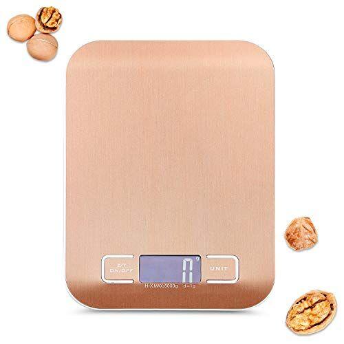 redmoo báscula de cocina redmoo digital, pequeña, con cable de carga usb, báscula de cocina electrónica, multifunción, báscula de cocina con pantalla lcd de precisión, maravillosa, acero inoxidable, oro rosa