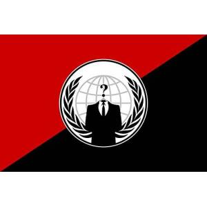magFlags Bandera Large Anonymous Anarchist   Alternative Flag for The Anonymous Group   Alternativa del Grupo Anonymous   Bandera Paisaje   1.35m   90x150cm