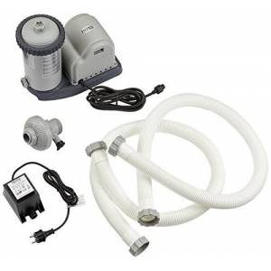 Intex 1500GPH Cartridge Filter Pump (12V), Gris, 36x 24x 29cm, 28636GS