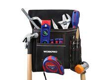 Herramientas manuales WORKPRO Bolsa de Herramientas con Cinturón Ajustable  y Gancho Metálico Portaherramienta para Electricista Carpintero baae4ff71ac3