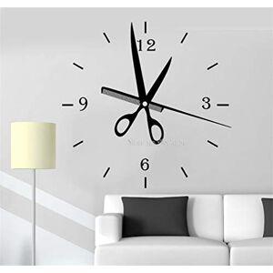uetrry pegatinas decorativas pared Más nuevo Reloj de peluquería creativa Relojes de moda Reloj de pared grande Etiqueta de salón Decoración Barbershop Style